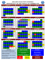 2014-2015 Collection Schedule Municipality of the