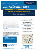 2015 Collection Sites - Morrow County Hospital
