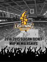 LOUD. PROUD. YELLOW. 2014-2015 SEASON TICKET