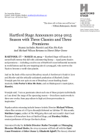 Hartford Stage Announces 2014-2015 Season with Three Classics