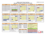 Standard Calendar for School Year 2014-2015