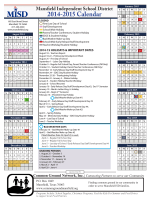 2014-2015 Calendar - Mansfield Independent School District