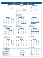 Instructional Calendar - Katy Independent School District