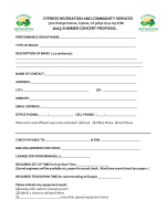 2015 Concert Proposal Packet