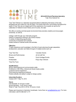 2014-2015 Event Planning Internship Tulip Time Festival, Inc. Tulip