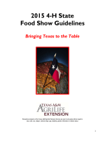 2015 4-H State Food Show Guidelines