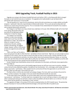 MHS Upgrading Track, Football Facility in 2015