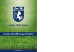 Kent Football Strategy 2012-2015