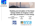 Modeling and simulation of the Power Energy System of Uruguay in