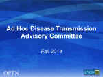 Ad Hoc Disease Transmission Advisory Committee