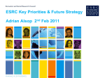 ESRC Draft Delivery Plan 2011-2015