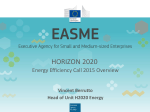 "Presentation ""H2020 Energy Efficiency 2015 Overview"""
