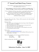 2 Annual Land Bank Essay Contest