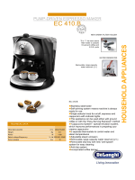 Delonghi EC 410 User Guide Manual