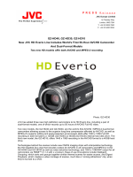 GZ-HD40, GZ-HD30, GZ-HD10 New JVC HD Everio Line Includes
