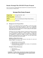 Sample: Strategic Plan, 2010-2015 Project Proposal