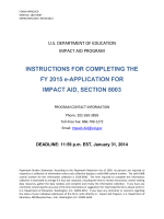 Section 8003 Instructions for Fiscal Year 2015 Application