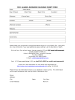 2015 ALASKA RUNNERS CALENDAR EVENT FORM