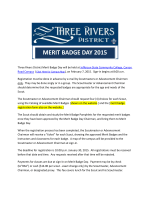 Registration for Merit Badge Day 2015 is now OPEN