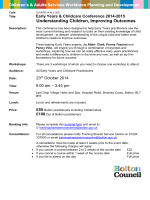 Early Years and Childcare Conference 2014