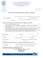 2014-2015 Foster Child Grant Program Conditions of