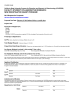 2015 Proposal Template - The California State University