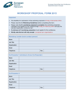 Workshop Proposal Form - European Social Network