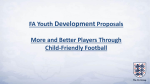 FA Youth Development Proposals