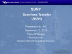 SUNY Seamless Transfer Powerpoint