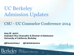 UC Berkeley Admission Updates