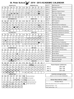 school calendar - St. Peter Campus
