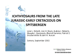 ICHTHYOSAURS FROM THE LATE JURASSIC-EARLY CRETACEOUS ON SPITSBERGEN