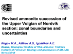 Revised ammonite succession of the Upper Volgian of Nordvik section: zonal boundaries and uncertainties