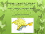 BERRIASIAN-VALANGINIAN BOUNDARY  IN THE CRIMEAN MOUNTAINS