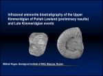 Infrazonal ammonite biostratigraphy of the Upper Kimmeridgian of Polish Lowland (preliminary results) and Late Kimmeridgian events