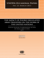 56.The Impact of Poorly Regulated Arms Transfers on the Work of the United Nations