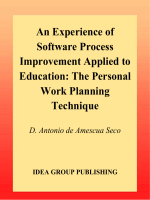Seco D. Antonio de Amescua - Experience of Software Process Improvement Applied to Education- The Personal Work Planning Technique