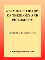Robert S. Corrington - A Semiotic Theory of Theology and Philosophy (2000)