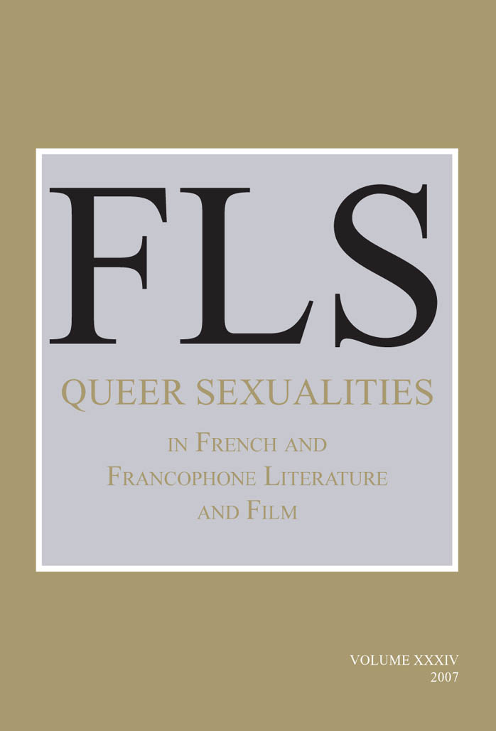 69c55c2084f James Day - Queer Sexualities in French and Francophone Literature and  Film. (French Literature) (2007)