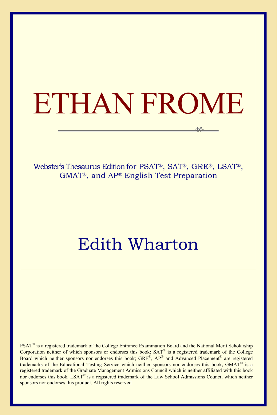 About Ethan Frome by Edith Wharton
