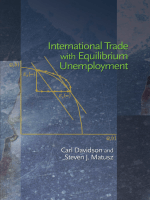 Carl Davidson Steven J. Matusz - International Trade with Equilibrium Unemployment (2009)