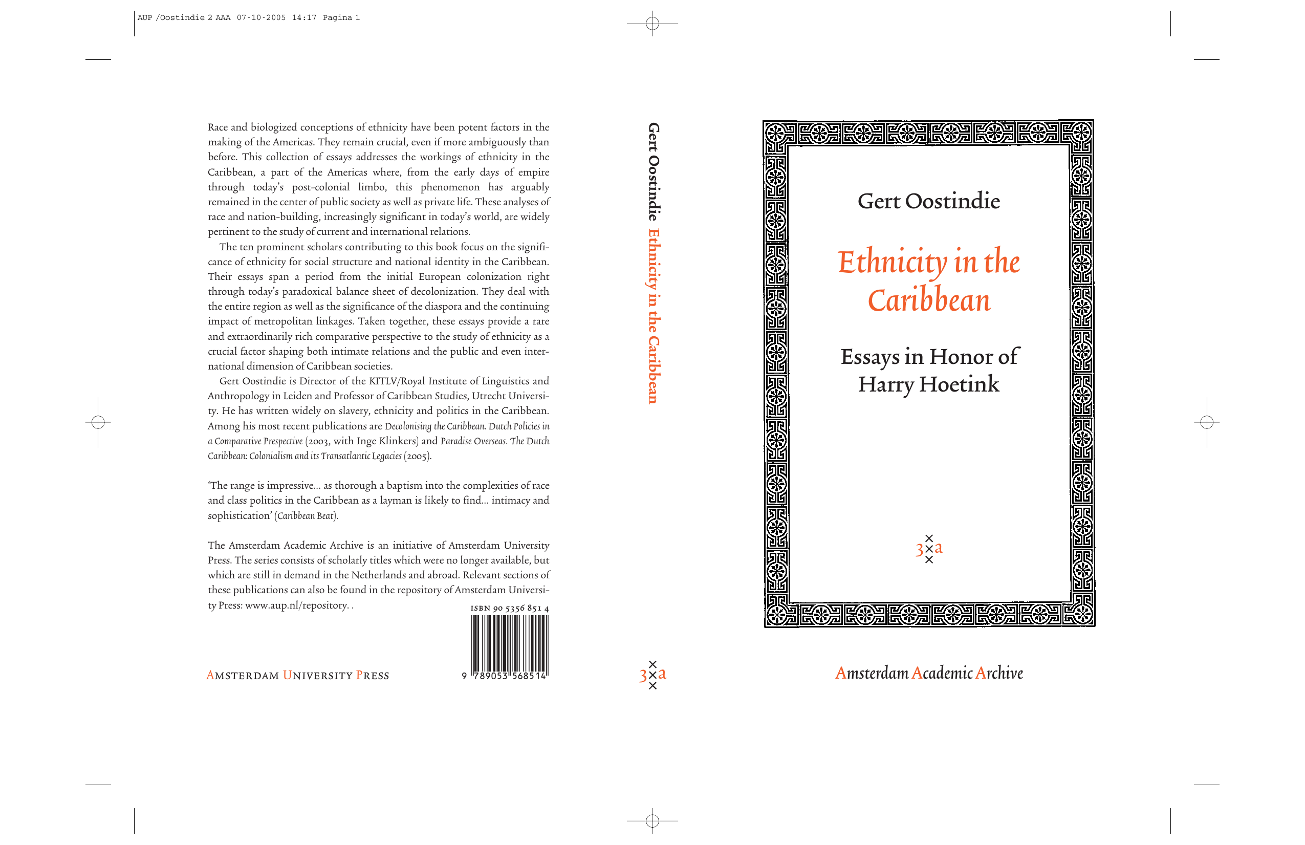 Gert Oostindie - Ethnicity in the Caribbean- Essays in Honor of Harry  Hoetink (Amsterdam University Press - Amsterdam Archaeological Studies)  (2006) 1e4cd854ba
