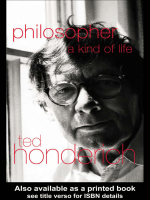 Ted Honderich - Philosopher- A Kind of Life (2000)