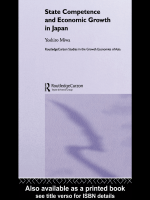 Yoshiro Miwa - State Competence and Economic Growth in Japan (Routledgecurzon Studies in the Growth Economies of Asia 54) (2004)