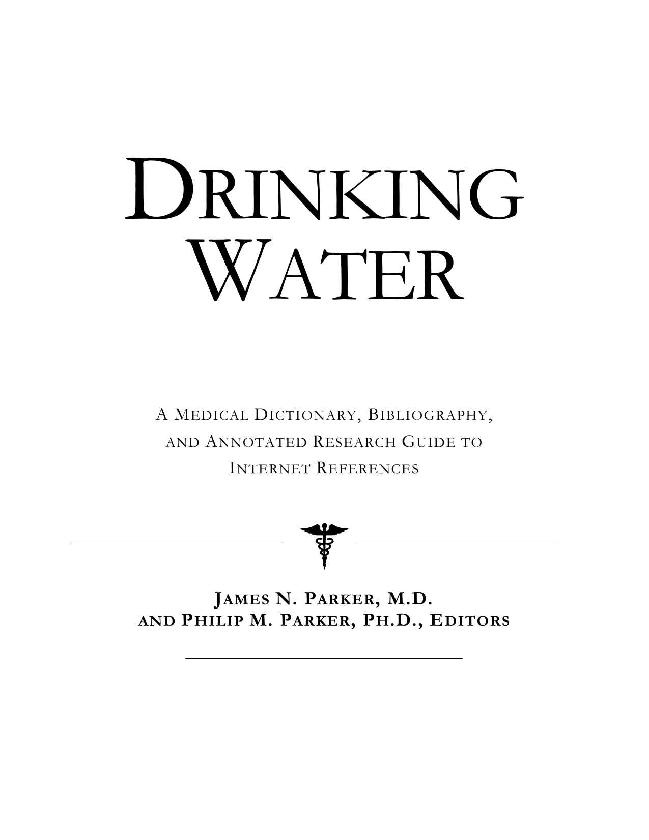 Health Publica Icon Health Publications Drinking Water A Medical