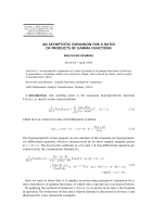 3393.Buehring. - Asymptotic expansion for ratio of products of Gamma functions (IJMMS2000) .pdf
