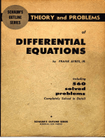 4905.Ayres F. - Schaums outline of theory and problems of differential equations (1952).pdf