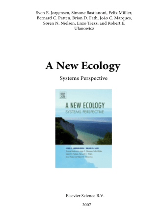 2218.A New Ecology. Systems Perspective