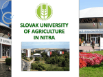 1448 Slovak University of Agriculture in Nitra