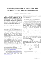 2470.Matrix Implementation of Moore FSM with Encoding of Collections of Microoperations